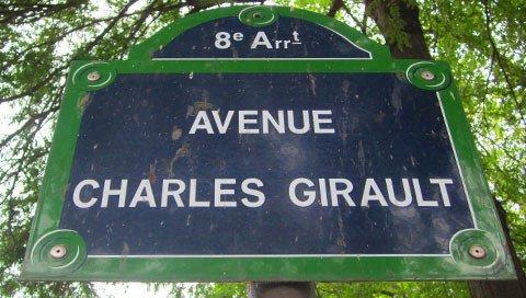 Straatbord in Parijs