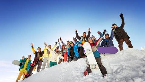 ski trip winter groep