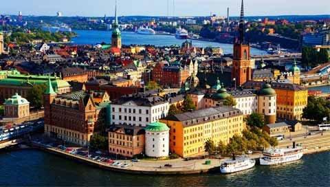 stedentrip STOCKHOLM schuin boven aanzicht