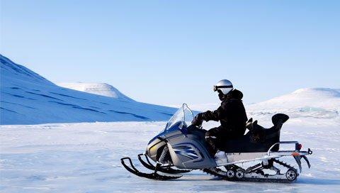 Sneeuwscooter in IJsland